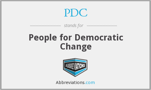 PDC - People for Democratic Change