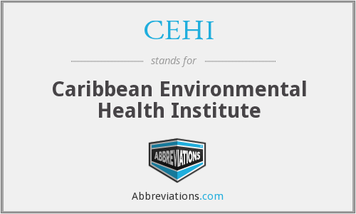 CEHI - Caribbean Environmental Health Institute