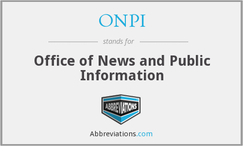 What does ONPI stand for?