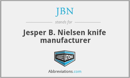 JBN - Jesper B. Nielsen knife manufacturer