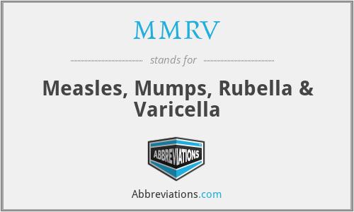 MMRV - measles, mumps, rubella & varicella