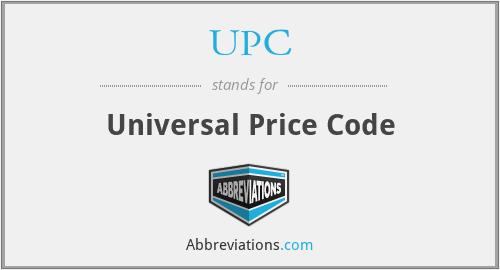 UPC - Universal Price Code