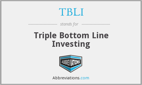 TBLI - Triple Bottom Line Investing