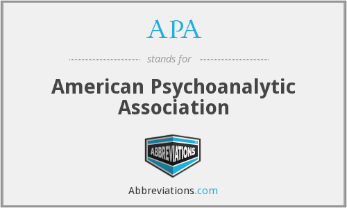 APA - American Psychoanalytic Association