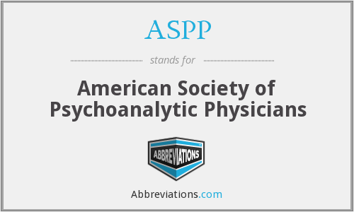 ASPP - American Society of Psychoanalytic Physicians