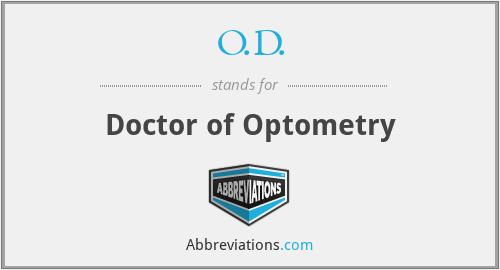 O.D. - Doctor of Optometry