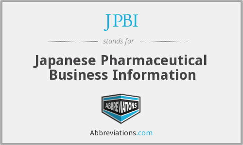 JPBI - Japanese Pharmaceutical Business Information