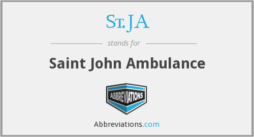 St.JA - Saint John Ambulance