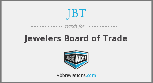 JBT - Jewelers Board of Trade