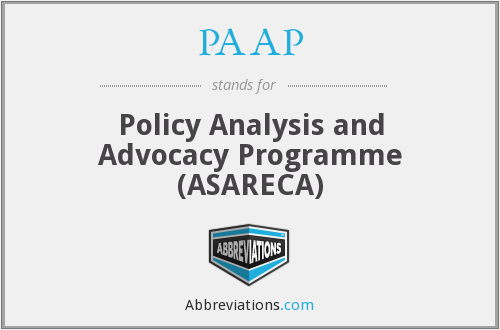 PAAP - Policy Analysis and Advocacy Programme (ASARECA)