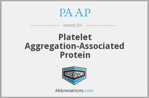 PAAP - Platelet Aggregation-Associated Protein