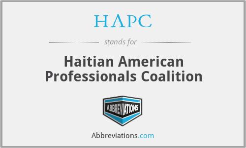HAPC - Haitian American Professionals Coalition