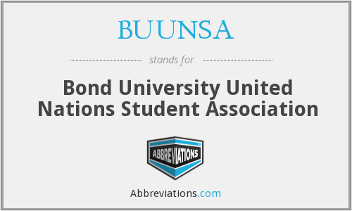 BUUNSA - Bond University United Nations Student Association