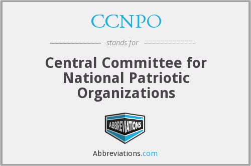 CCNPO - Central Committee for National Patriotic Organizations