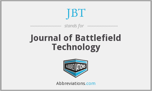 JBT - Journal of Battlefield Technology