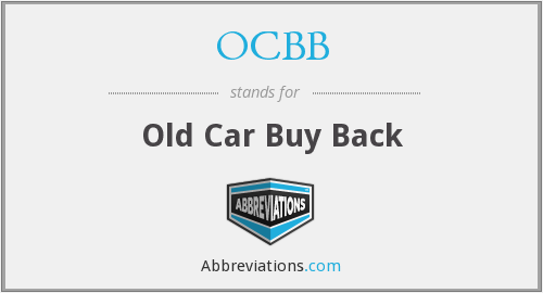OCBB - Old Car Buy Back