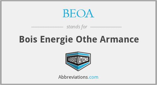 BEOA - Bois Energie Othe Armance