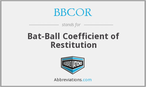 BBCOR - Bat-Ball Coefficient of Restitution