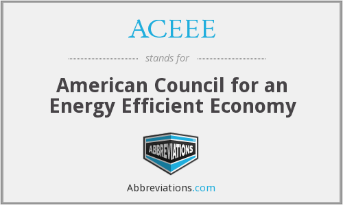 What does ACEEE stand for?