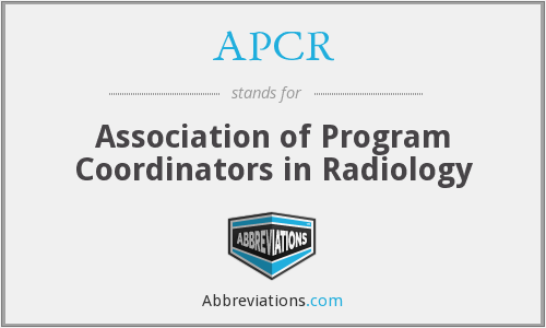 APCR - Association of Program Coordinators in Radiology