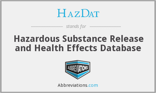 HazDat - Hazardous Substance Release and Health Effects Database