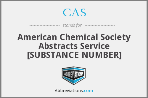 CAS - American Chemical Society Abstracts Service [SUBSTANCE NUMBER]