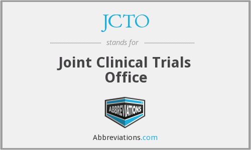 JCTO - Joint Clinical Trials Office