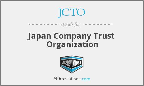 JCTO - Japan Company Trust Organization