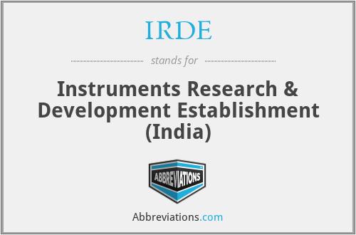 IRDE - Instruments Research & Development Establishment (India)