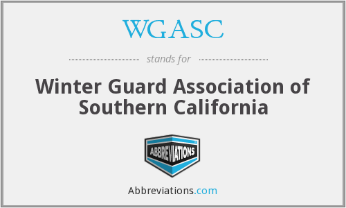 WGASC - Winter Guard Association of Southern California