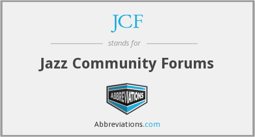 JCF - Jazz Community Forums