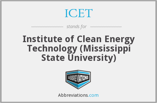 ICET - Institute of Clean Energy Technology (Mississippi State University)