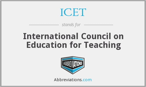 ICET - International Council on Education for Teaching