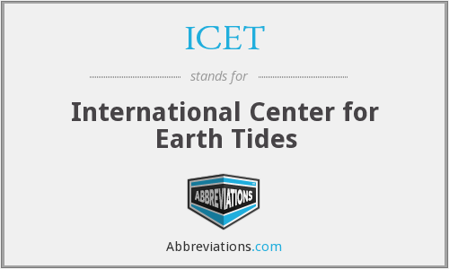 ICET - International Center for Earth Tides