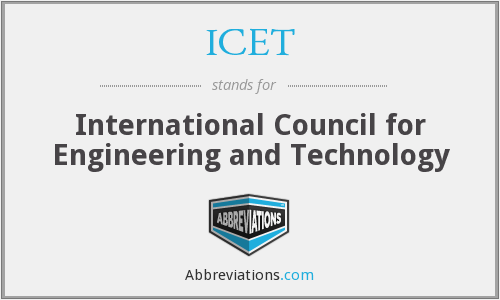 ICET - International Council for Engineering and Technology