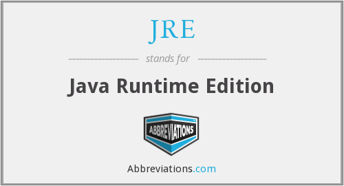 JRE - Java Runtime Edition