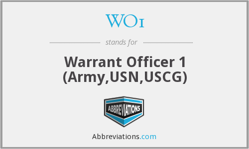 What does WO1 stand for?