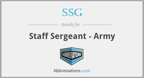 SSG - Staff Sergeant - Army