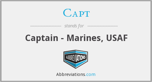 Capt - Captain - Marines, USAF