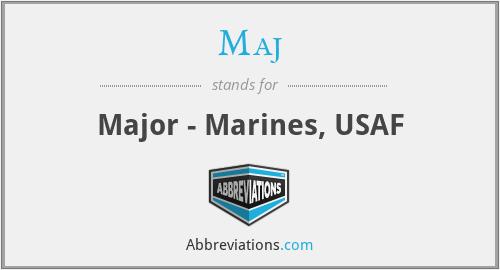 Maj - Major - Marines, USAF