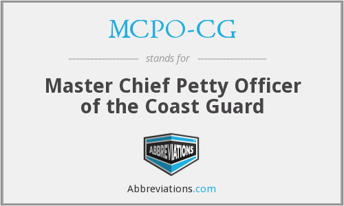 MCPO-CG - Master Chief Petty Officer of the Coast Guard