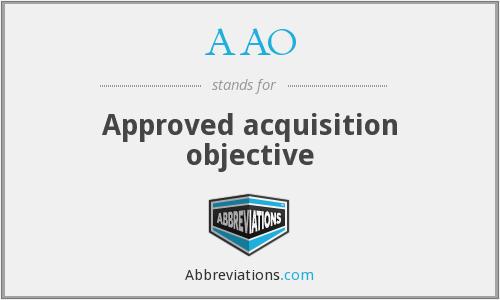 AAO - Approved acquisition objective