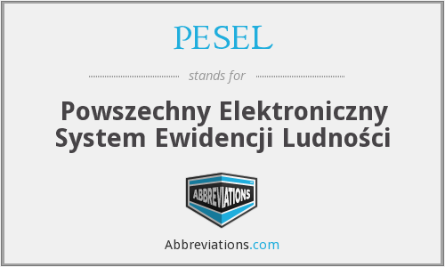 What does PESEL stand for?