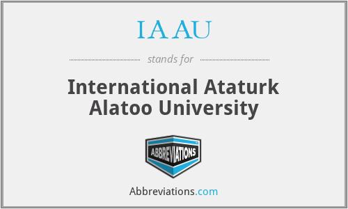 IAAU - International Ataturk Alatoo University