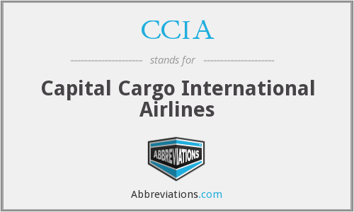 CCIA - Capital Cargo International Airlines