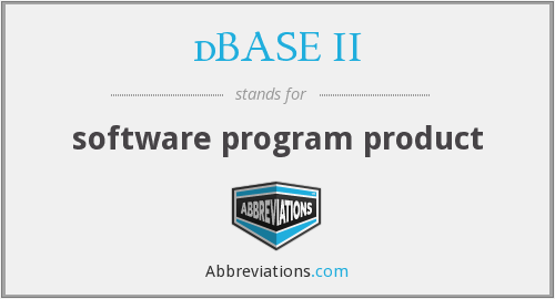 dBASE II - software program product