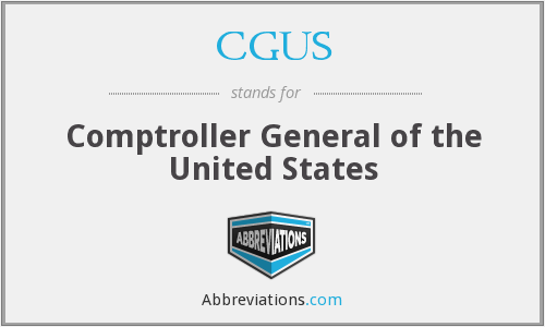 CGUS - Comptroller General of the United States