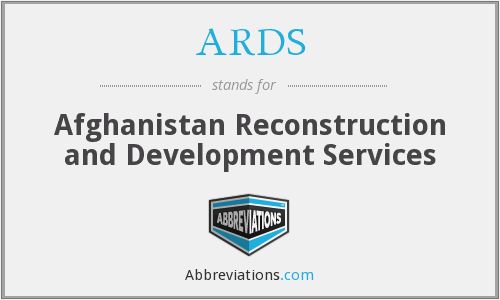 ARDS - Afghanistan Reconstruction and Development Services