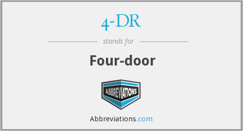 What does 4-DR stand for?