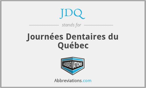 JDQ - Journées Dentaires du Québec